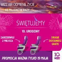 Wizz Air: kup jeden bilet, drugi otrzymasz gratis* (Paryż 64 PLN, Londyn 74 PLN, Neapol 84 PLN, Gruzja 104 PLN, Barcelona 144 PLN, Tel Awiw 149 PLN, Burgas 219 PLN, Kreta 286 PLN i inne)